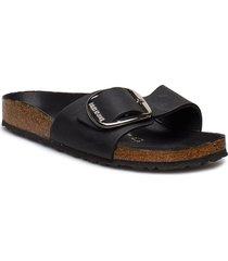 madrid big buckle shoes summer shoes flat sandals svart birkenstock