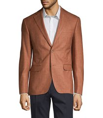 classic fit wool silk linen sport jacket