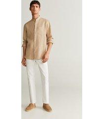 regular-fit overhemd van 100% linnen
