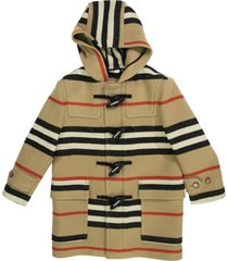 alistar double-faced icon stripe wool duffle coat