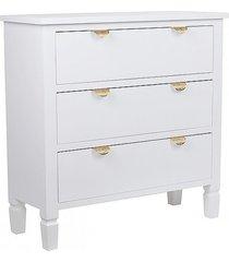 komoda drewniana 3 szuflady ligabue biała