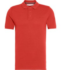 stretch institutional polo rojo calvin klein