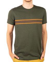 camiseta rayas estampadas verde militar ref. 108031119