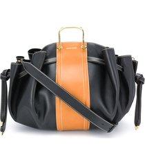 alexander mcqueen the drawstring tote bag - black