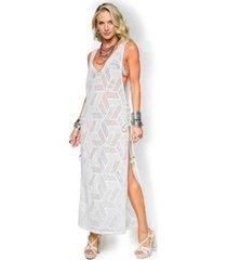 saida de praia de chelles tela amarração lateral feminina - feminino