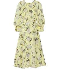yusra floral-print silk-voile midi dress
