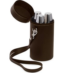 7-piece flask, shooter cups & carrying case set