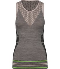 hmlgemma seamless top t-shirts & tops sleeveless grå hummel