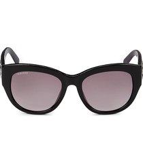 swarovski women's 54mm cat eye sunglasses - black