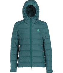 chaqueta pluma 700 mujer verde andesgear