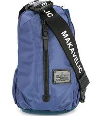 makavelic cocoon sling bag - blue