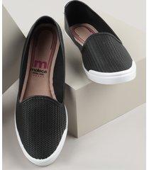 slipper feminino moleca texturizado preto