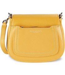 mini empire city leather messenger bag