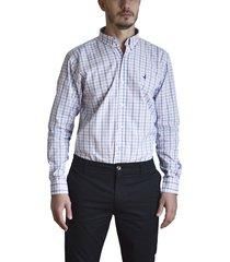 camisa blanca brooksfield brighton cuadros 5
