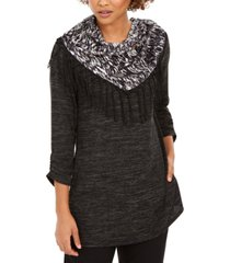 ny collection petite top with removable scarf