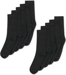 hanes men's 10-pk. cushioned crew socks