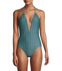 natalie triangle one-piece swimsuit