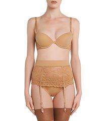 la perla women's shape-allure suspender belt - nude - size s