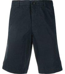 aspesi straight-leg chino shorts - blue