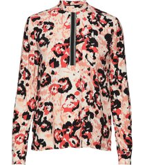 prt ls placket detail blouse blouse lange mouwen multi/patroon calvin klein