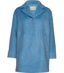 hurma coat wollen jas lange jas blauw marimekko