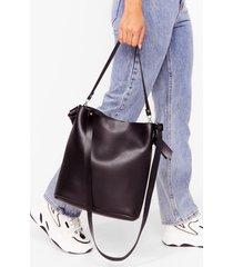 womens want oh tote-lly faux leather bag - black