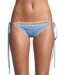 crochet tie bikini bottoms