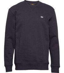 plain crew sws sweat-shirt tröja blå lee jeans