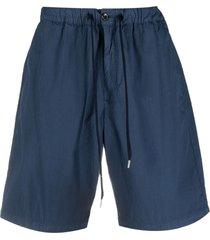pt01 textured drawstring shorts - blue