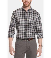 g.h. bass & co. men's campside classic-fit dobby plaid flannel shirt
