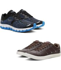 kit tênis e sapatênis polo casual conforto leve masculino - masculino