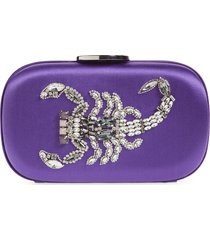 giambattista valli zodiac embellished clutch - purple