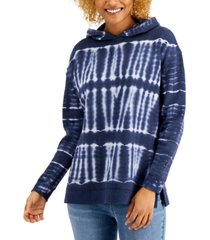 style & co tie-dyed hoodie, created for macy's