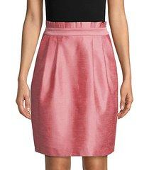toni paper-bag skirt