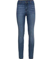 jeans super skinny a vita alta (blu) - rainbow