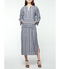 abito casual maternity a righe divise per donna