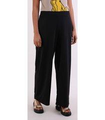 calça de moletom feminina pantalona cintura alta preta