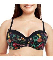 chantelle flowers memory foam padded bikini bra
