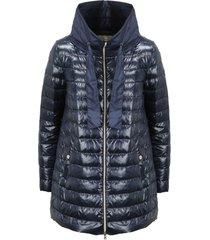 herno shiny nylon and taffeta down jacket