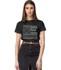 camiseta basica my t-shirt data base preto
