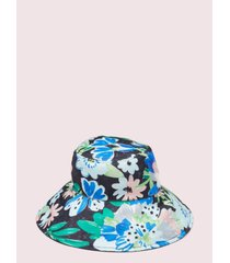 kate spade new york full bloom long brim reversible bucket hat