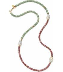 color field necklace in meadow