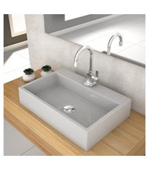 cuba de apoio p/banheiro compace florenza q550w retangular cinza