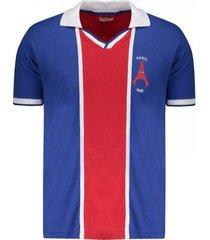 camiseta masculina paris saint germain 1998 retro mania