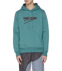 'van jasage' vincent logo print hoodie