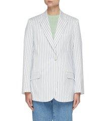 vertical stripe single breast blazer