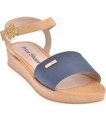 priceshoes sandalia confort dama 232692azul
