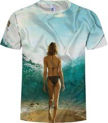 sea girls 3d digital impreso cool camiseta hombre hombre o cuello manga corta
