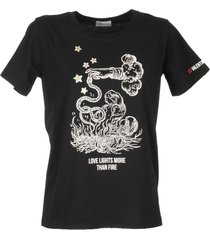 red valentino black t-shirt with print