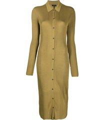 rag & bone fitted chevron knit dress - green